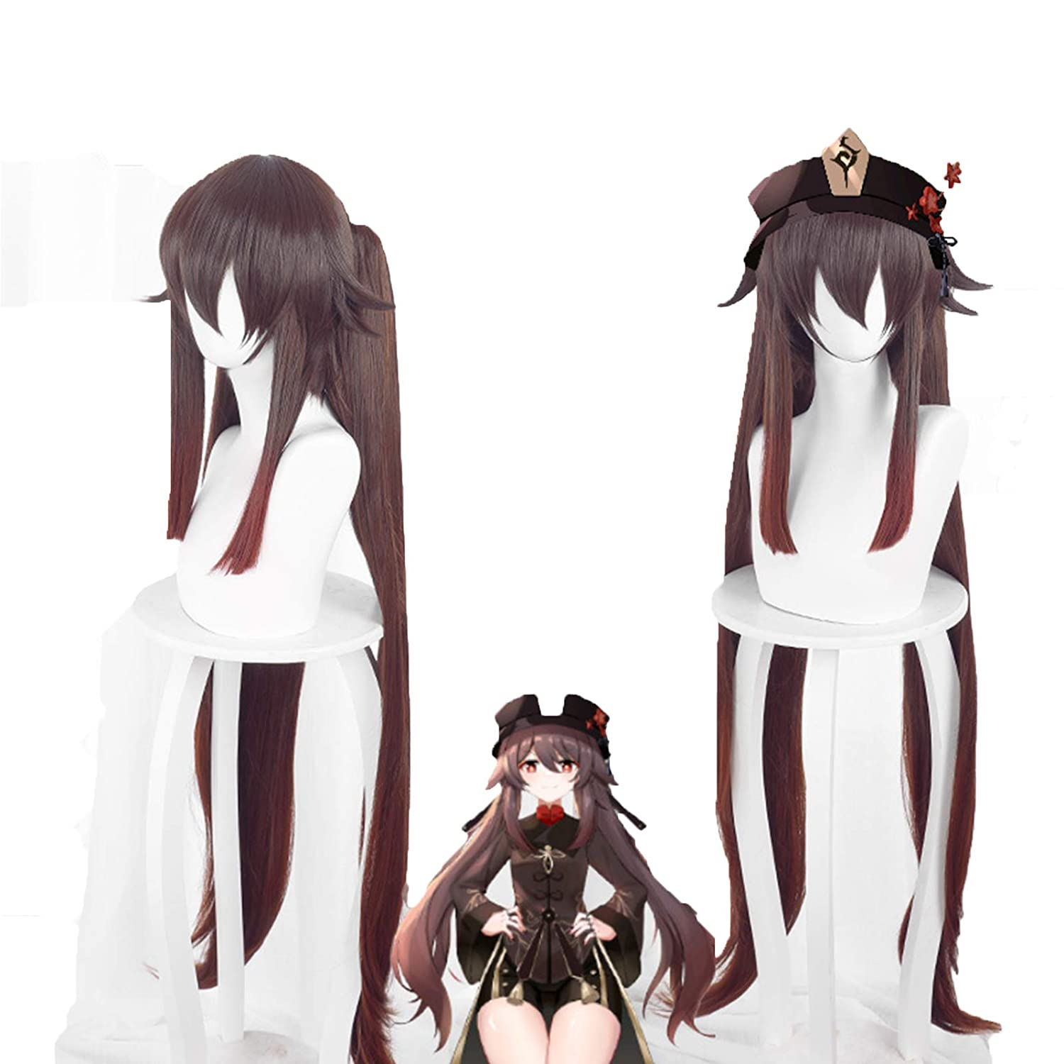 Heydoki Genshin Impact Wig Department store Anime Project sold out Cosplay Hu Tao Wigs Red