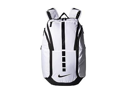Nike Hoops Elite Pro Backpack (White/Black/Black) Backpack Bags