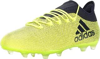 Men's X 17.2 FG Soccer Shoe, Grey/Real Coral/Core Black, 7.5 M US