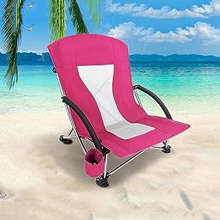BKWJ Chaise Pliante de Plage Basse en bandoulière, Chaise de Camping Portable Pliable légère, chaises de Soleil parfaites ...