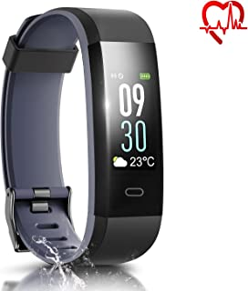 HQBEi Fitness Watch, I5 Heart Rate Monitor Fitness Tracker, Waterproof Activity Tracker Color Screen Smart Bracelet with Pedometer Sleep Monitor for Android iOS Smartphone