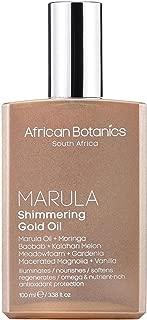 African Botanics Marula Shimmering Gold Oil-3.4 oz.