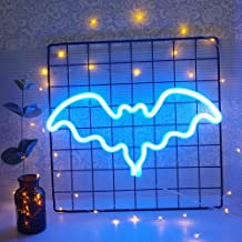 Neonowe znaki LED lampka nocna neonowa światło w kształcie nietoperza dekoracja ścienna dla dziewcząt dzieci pokój urodzin...