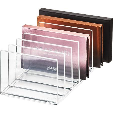 iDesign 95312EU Makeup Organizer, boîte 7 Compartiments pour Palette Collection Exclusive Sarah Tanno, Rangement Maquillage en Plastique, Transparent, 20,5 x 10,2 x 9,3 cm