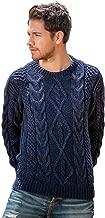 Gamboa - Handwoven Alpaca Sweater - Cable Knit Alpaca Sweater - Ocean Blue