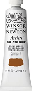 Winsor & Newton Artists' Oil Colour Paint, 37ml Tube, Brown Madder