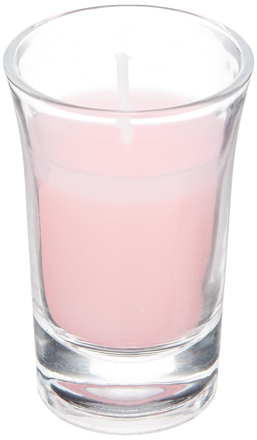 指令クリップ蝶キモいラナンキュラスグラスキャンドル 「 ピンク 」