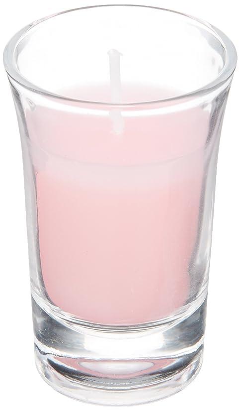 ホップ学生航空ラナンキュラスグラスキャンドル 「 ピンク 」