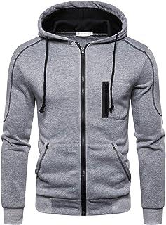 Mens Casual Zip Up Hoodies Long Sleeve Tops Cardigan Hooded Sweatshirt Jumper Jacket M-3XL