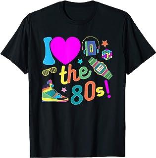I love the 80s Shirt Ich liebe die 80er Jahre Party Kostüme T-Shirt