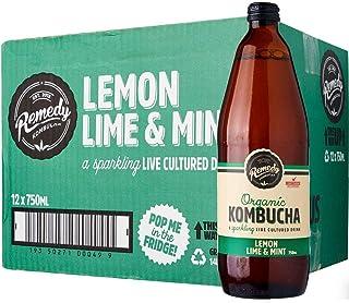 Remedy Organic Kombucha Lemon Lime Mint, 750 ml (Pack of 12), 9 l