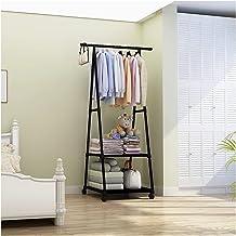 MU Wieszak wielofunkcyjny wieszak na ubrania zdejmowany do sypialni wiszące ubrania z kółkami stojący trójkątny wieszak ła...