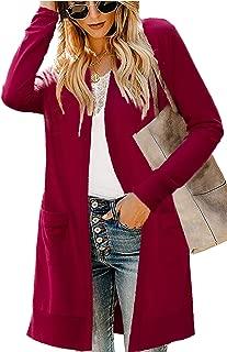 Best burgundy sweater cardigan Reviews