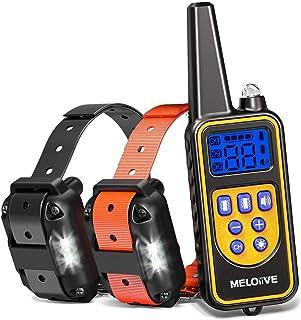 comprar comparacion Meloive Collar de Adiestramiento Dos Perros, Recargable y Resistencia al Agua de IP67 con un Alcance de 800m con 99 Nivele...