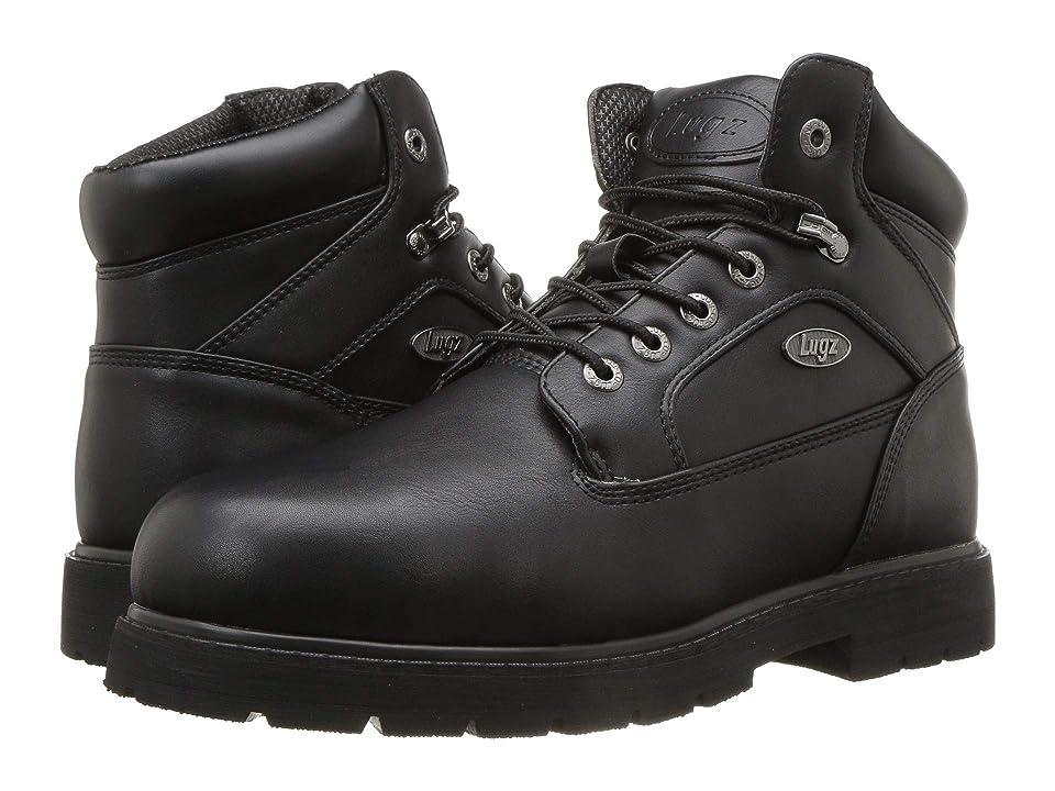 Lugz Mortar Mid Steel Toe Chukka Boot (Black) Men
