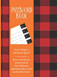 """Password Book: Journal And Logbook To Protect Usernames and Passwords 