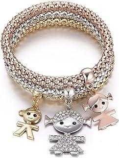Braccialetto delle donne, braccialetto sveglio del polsino del braccialetto del braccialetto a catena tratto del bracciale...