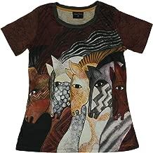 Laurel Burch Women's Shirt, Moroccan Mares