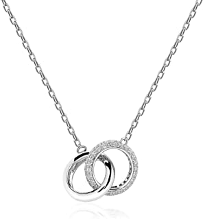 GELVTIC 925 Sterling Silver Initial Pendant Choker Letter Necklace for Women 18K Rose Gold Plated A Z Adjustable Layering Chain for Girls Gift Jewelry,18
