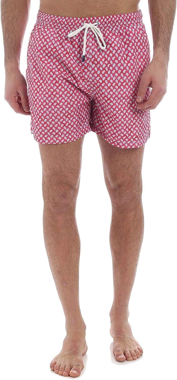 Fedeli Men's 22UE00318B515733 Red Polyester Trunks