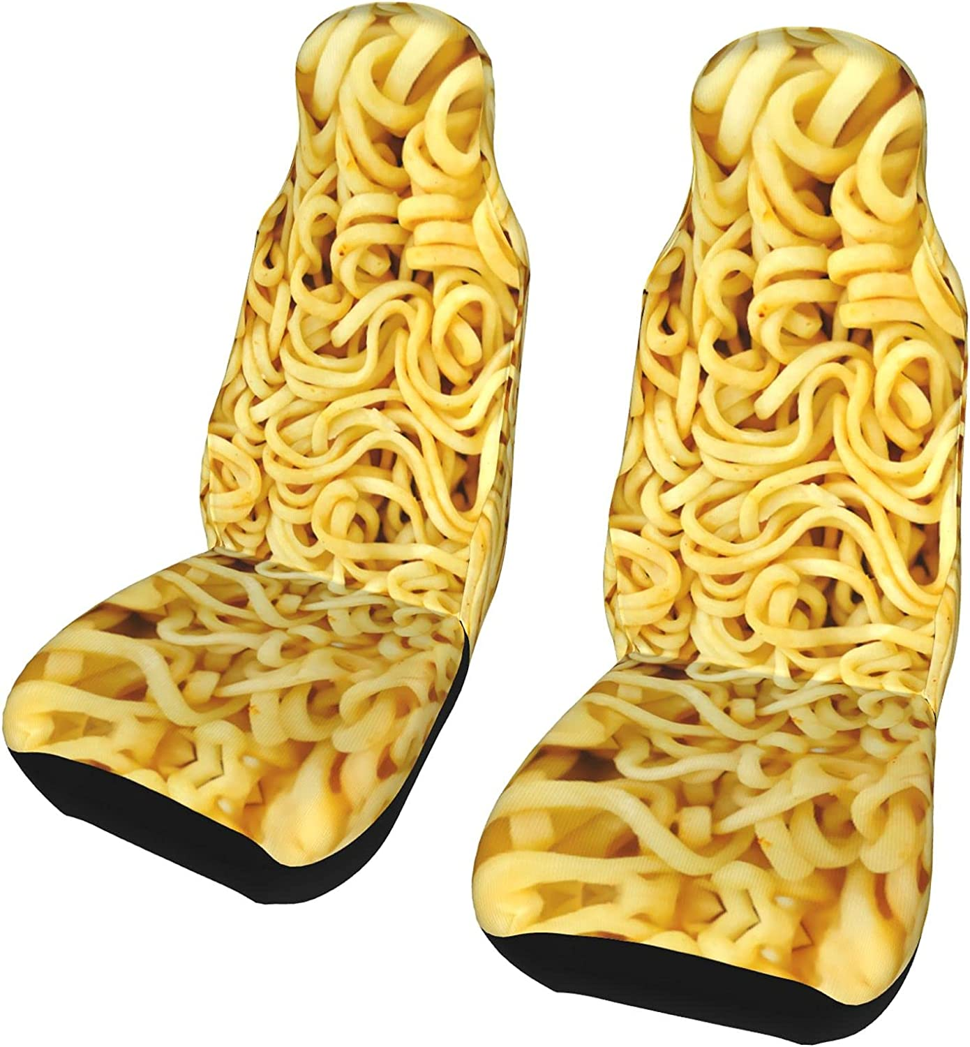 NEW before selling ☆ Ramen Noodles Funny Car Seat Covers Accessori Some reservation Universal 2pcs
