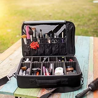 New BEST Professional Makeup Case Travel Makeup Bag Makeup Artist Cosmetic Train Case Cosmetic Organizer Big Makeup Bag Perfect Gift - Makeup Organizer & Makeup Brush Holder Bag/Designer Makeup Case