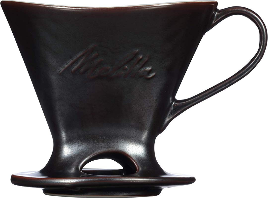 Melitta Signature Series Single Cup Porcelain Pour Over Cone Coffeemaker Gunmetal Gray