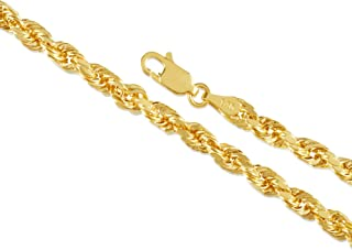 Best 10k 4mm gold rope chain Reviews
