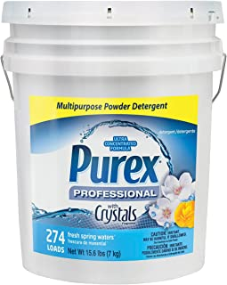 Dial 1729436 Professional Purex Fresh Spring Waters Multipurpose Powder Detergent, 15.6lbs Pail, 274