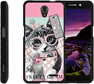 TurtleArmor   Compatible with ZTE Avid Plus Case   ZTE Avid Trio   ZTE ZFive 2 [Slim Duo] Slim Snap On 2 Piece Hard Cover Protector Case Girls on Black - Hipster Cat