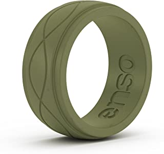 Men's Infinity Silicone Ring | Lifetime Quality Guarantee | an Ultra Comfortable, Breathable, and Safe Silicone Ring