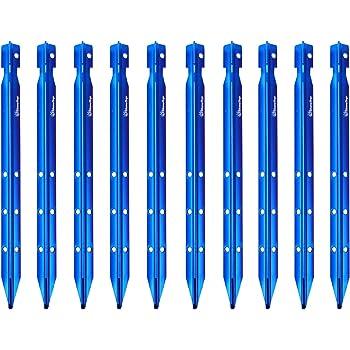 TRIWONDER Estacas de Aluminio /& Tensores con Cuerda Paracord Reflexiva Durable para Tiendas de Campa/ña Toldo al Aire Libre