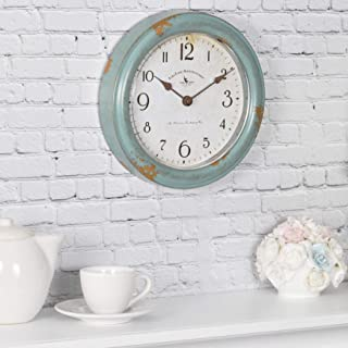 Best rustic teal wall clock Reviews