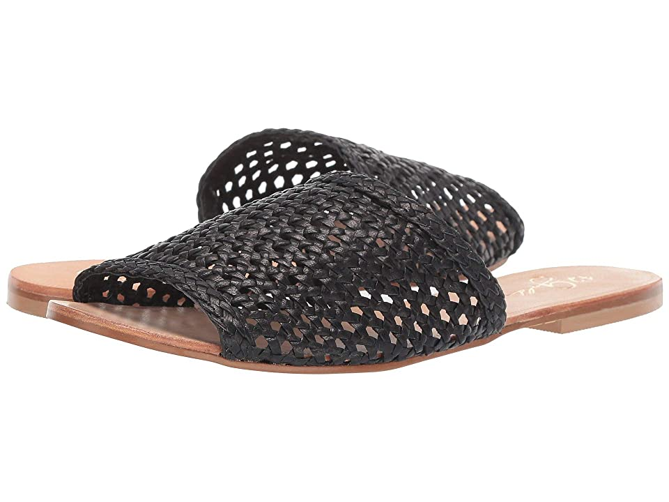 Image of 42 GOLD Begonia (Black Leather) Women's Sandals