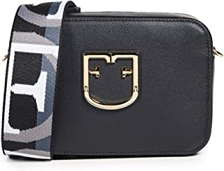 Furla Women's Furla Brava Mini Crossbody, Onyx, Black, Graphic, One Size