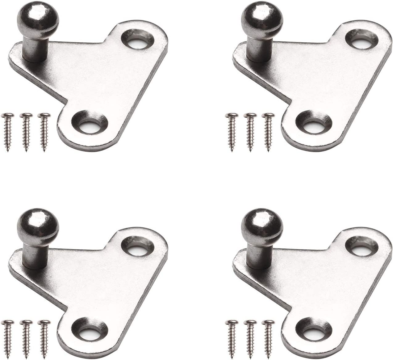 Beneges 4 Pcs 10mm Ball Stud Mounting Brackets Witch Screws Universal Gas Spring Lift Support Strut