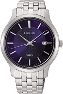 Seiko neo classic Mens Analog Quartz Watch with Stainless Steel bracelet SUR291P1