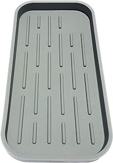 Kitchen Sink Organizer Tray – Sponge Holder, Countertop Storage for Bathroom Soap, Makeup, Utensils and Tools – Non-Slip Silicone Mat, Bathroom Caddy, Soap Dispenser Holder – 100% BPA Free