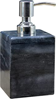 KLEO Soap Dispenser Lotion Dispenser - Made of Natural Stone - Bathroom Accessories Bath Set (Grey)