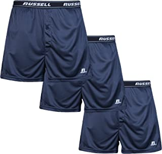 Russell Athletic Mens Big and Tall Soft Essential Boxer Brief Underwear (3 Pack)