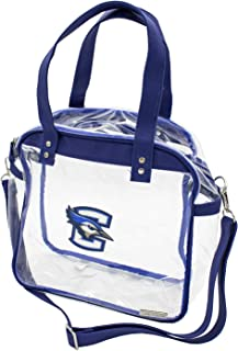 Capri Designs Clear Carryall Tote, Stadium Approved, Transparent Bag, NCAA Licensed, PVC with Accents