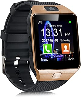 Padgene DZ09 Bluetooth Smartwatch,Touchscreen Wrist Smart Phone Watch Sports Fitness Tracker with SIM SD Card Slot Camera Pedometer Compatible with iPhone iOS Android for Kids Men Women
