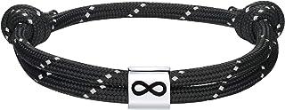 J.Endéar Pulsera Infinito Plata 925 para Unisex, Pulsera Cuerda Náutica con Charm de Plata para Hombre Mujer Regalo