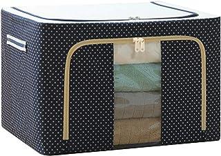Glomixs Oxford Tissu Cadre en Acier boîte de Rangement pour vêtements Drap de lit Couverture Oreiller Porte-Chaussures con...