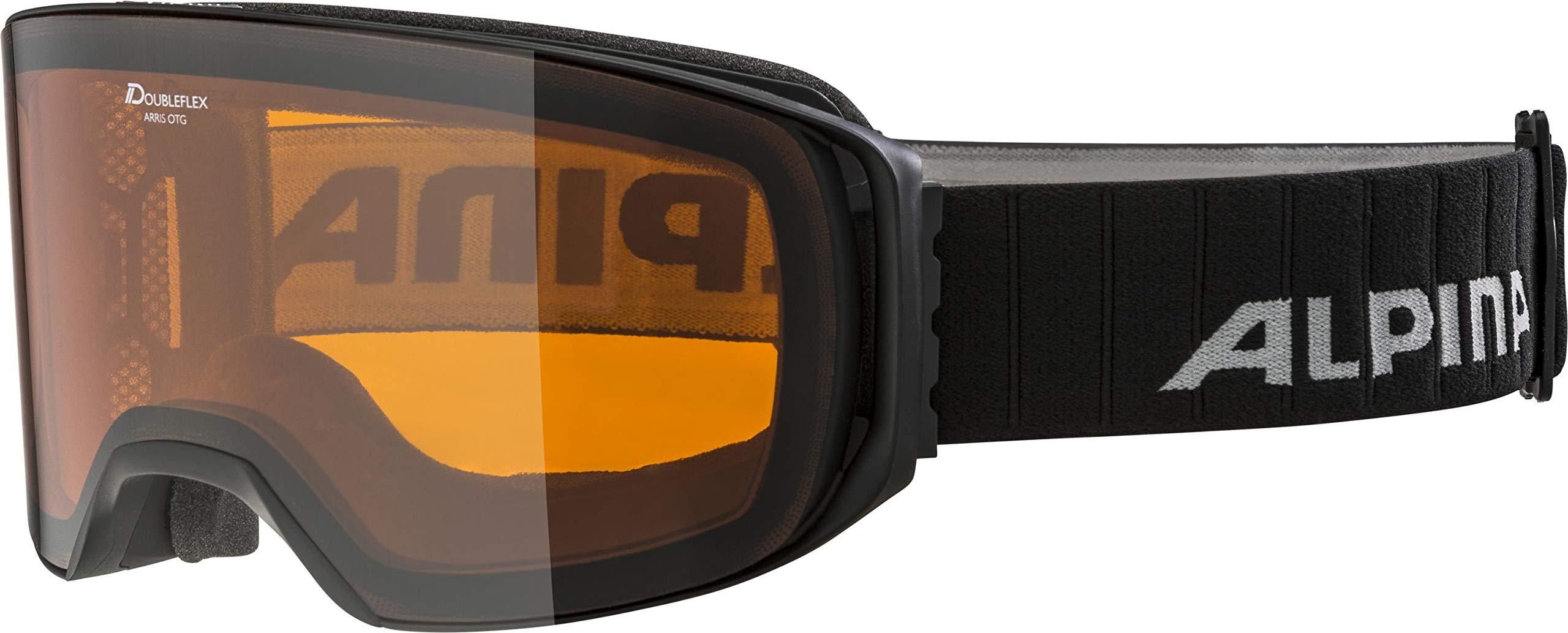 ALPINA Unisex - Erwachsene, ARRIS DH Skibrille, black matt, One size