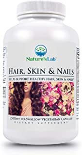 Nature's Lab Hair Skin & Nails 250ct (8+ Months Supply) a Combination of Essential Vitamins, Amino acids, M...