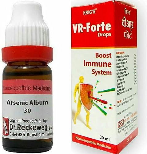 HOMEOBUY REMIDIES German Ars Album 30 CH VR Forte Immunity Drops Combo