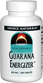 Source Naturals Guarana Energizer Dietary Supplement - Supports A Long Lasting Energy Boost - 200 Tablets
