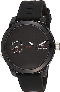Tommy Hilfiger Men'S Black Dial Black Silicone Watch - 1791326