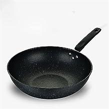 Wok Non-stick Pan No-smoke Pan Gas Cooker Universal Cooking Iron Pot Home Frying Pan Kitchen Pots and Pans Egg Pan Frying ...